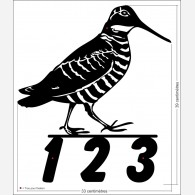 Numéro de rue décor - Bécasse