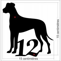 Numéro de rue décor - Silhouette Dog
