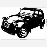 Décor voiture - La citroën 2 CV