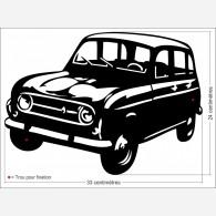 Décor voiture - Renault 4L