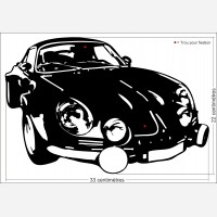Décor voiture - Renault Alpine A110 n°2