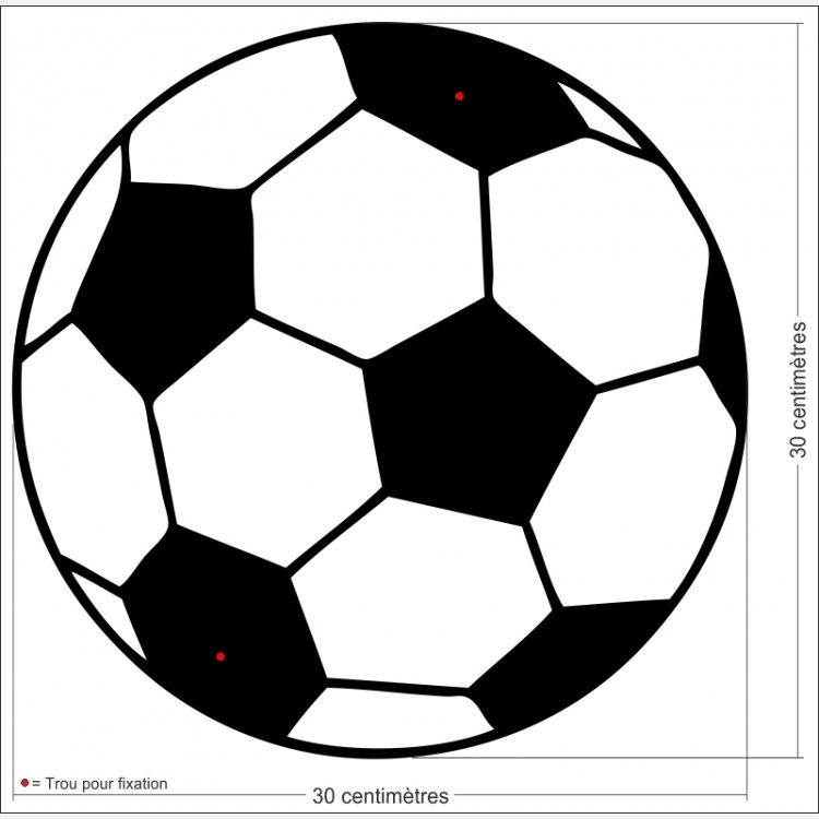 D cor sport le ballon de foot cr ation et fabrication de d corations d cor mural en aluminium - Coloriage ballon foot ...