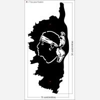 Décor Carte de Corse avec la tête de Maure