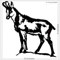 Décor animal - Le chamois