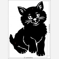 Décor animal - le chat noir