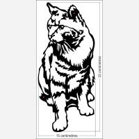 Décor animal - le chat assis