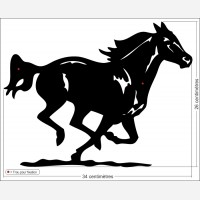 Décor animal - Le cheval noir au galop