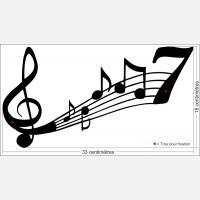 Numéro de rue décor - Portée Musicale