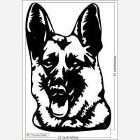 Décor chien - Tête berger allemand