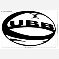 Décor sport - Ballon de Rugby UBB