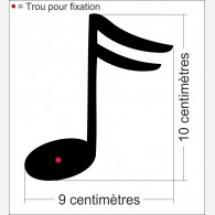 Note de music 1 Croche