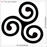 Décor motif - Symbole Triskel simple
